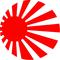 Japan Rising Sun Decal / Sticker 05