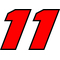 11 Race Number 2 Color Decal / Sticker 2c