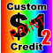 Custom $1 Credit for PRINT decals VERSION 2