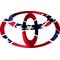 Rebel Flag Toyota Decal / Sticker 01