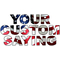 American Flag Custom Lettering Decal / Sticker 02