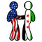 American Flag and Syrian Flag Shaking Hands Decal / Sticker 11