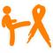 Kicking Kidney Cancer's Ass Decal / Sticker 01