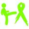 Kicking Lymphoma Cancer's Ass Decal / Sticker 01