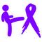 Kicking Pancreatic Cancer's Ass Decal / Sticker 01