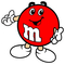 Red M&M Decal / Sticker 13