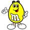 Yellow M&M Decal / Sticker 19