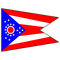 Ohio Flag Decal / Sticker 01