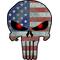 American Flag Punisher Decal / Sticker 70