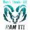 Aqua Lightning Don't Stroke It, RAM It Decal / Sticker 33