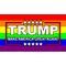 TRUMP LGBT Flag Decal / Sticker 07