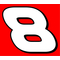8 Race Number Pepsi Font 2 Color Decal / Sticker