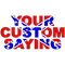 Rebel Confederate Flag Custom Lettering Decal / Sticker 02