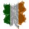 Fighting Irish Flag - 4 Leaf Clover Decal / Sticker 03