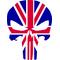 British Flag Punisher Decal / Sticker 101