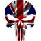British Flag Punisher Decal / Sticker 103