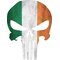 Irish Flag Punisher Decal / Sticker 104