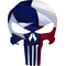 Texas Flag Punisher Decal / Sticker 106