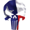 Texas Flag Punisher Decal / Sticker 107