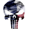 Texas Flag Punisher Decal / Sticker 108