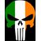Irish Flag Punisher Decal / Sticker 97