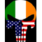 Irish American Flag Punisher Decal / Sticker 98