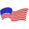 American Flag Waving Decal / Sticker 89