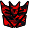 Red Camoflauge Decepticon Decal / Sticker 38