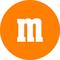Orange M&M Decal / Sticker 33