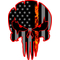 Thin Red Line American Flag Punisher Decal / Sticker 140