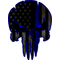 Thin Blue Line American Flag Punisher Decal / Sticker 141