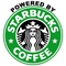 Powered By Starbucks Decal / Sticker 02