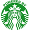 Powered By Starbucks Decal / Sticker 05
