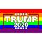 TRUMP 2020 LGBT Flag Decal / Sticker 13
