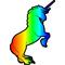 Rainbow Unicorn Decal / Sticker 18