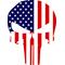 American Flag Punisher Decal / Sticker 128