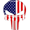 American Flag Punisher Decal / Sticker 147 Simulated Glass