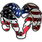 American Flag Ram Decal / Sticker 04