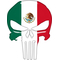 Mexian Flag Punisher Decal / Sticker 148 Simulated Glass
