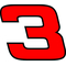 3 Race Number Hemihead Font 2 Color Decal / Sticker d