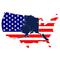 Alaska Overlaying USA Decal / Sticker 05