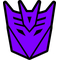 Purple Decepticon Decal / Sticker 40