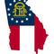 Georgia Outline State Flag Decal / Sticker 10