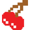 Pac-Man Cherries Decal / Sticker 08
