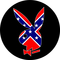 Confederate / Rebel Flag Playboy Decal / Sticker 05