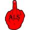 Fuck ALS Decal / Sticker 02