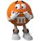 Orange M&M Decal / Sticker 59