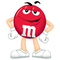 Red M&M Decal / Sticker 43