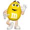 Yellow M&M Decal / Sticker 42