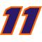 11 Race Number Decal / Sticker D
